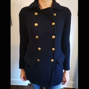 Lambswool Military Style Peacoat